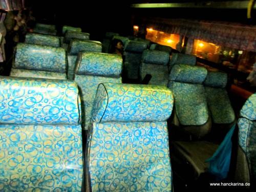 die Bestuhlung unseres Busses