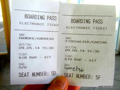 Boardingpässe von Air Rarotonga