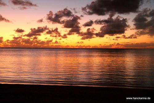Sonnenuntergang Aitutaki