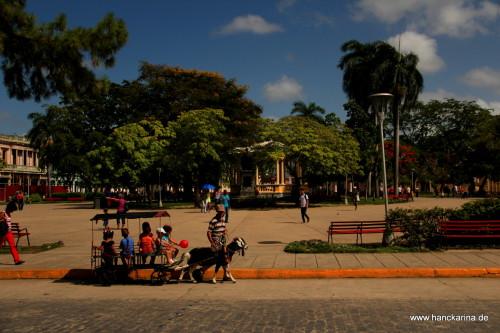 Ziegenkutsche am Parque Vidal