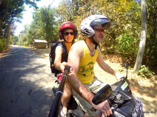 Rollerfahren auf Lombok.