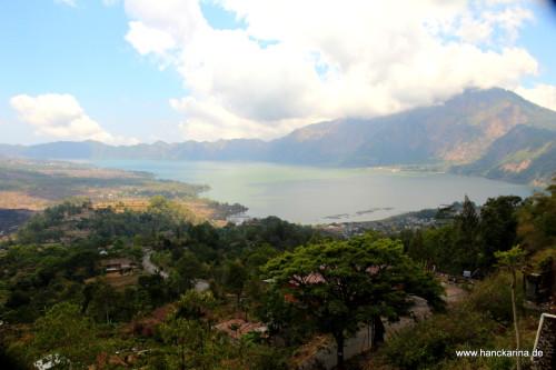 Blick auf den Vulkan Batur
