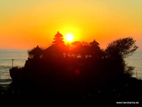 Sonnenuntergang bei Tanah Lot
