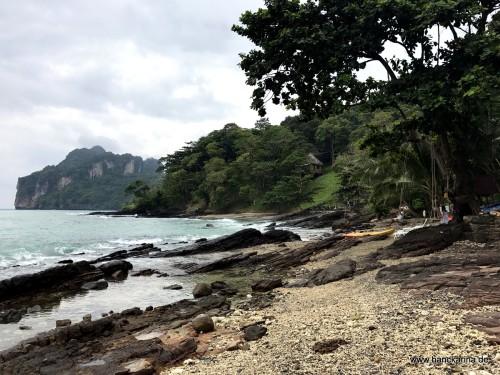 Wanderweg am Strand